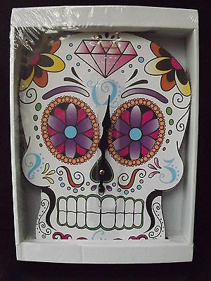 CLOCK GOTHIC Skull day of Morts - NEW