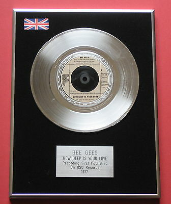 "BEE GEES How Deep Is Your Love 7"" Single PLATINUM DISC Presentation"