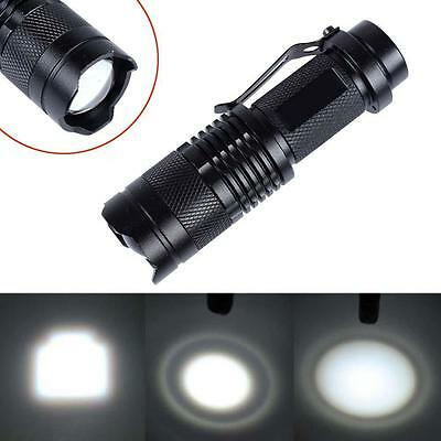CREE T6 LED Mini Flashlight 14500 AA Focus Torch 2000LM Zoomable Light JS