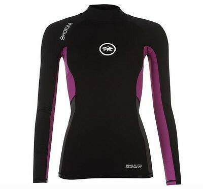 Hot Tuna Ladies Neoprene Shirt Black Purple long sleeve all sizes new with label