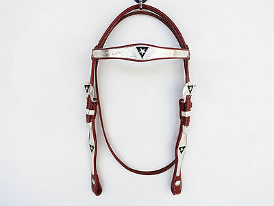 Tan Western Silver Bling Leather Western Horse Bridle Only