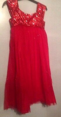 Monsoon Girls  Red Dazzling Dress Sequins Weddings Parties Christmas 3-14