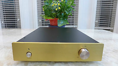 GOLD DIY chassis Tube preamplifier amp DAC Tube buffer Solid state Alum Chassis