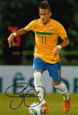 RIO 2016 OLYMPICS NEYMAR BARCELONA BRAZIL SIGNED 10x8 INCH LAB PRINTED PHOTO