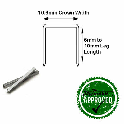 Arrow T50 140 Series Stainless Steel Flat Wire Staples 6mm, 8mm, 10mm 1,000 box