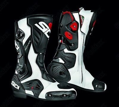 SIDI Roarr White/Red/Black Sports Touring Motorcycle Boot Was £240