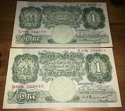 B260 Bank of England £1 One Pound PEPPIATT - SEPTEMBER 1948