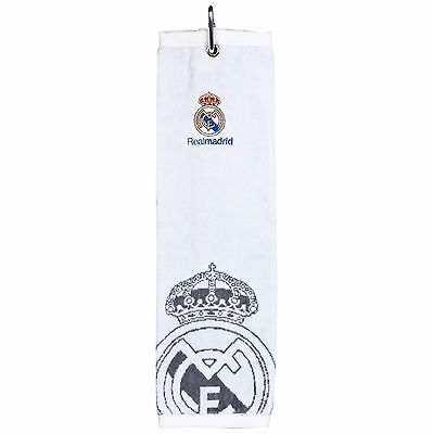 "Real Madrid Golf Tri-Fold Towel Personalised with ""NT"" HE13"
