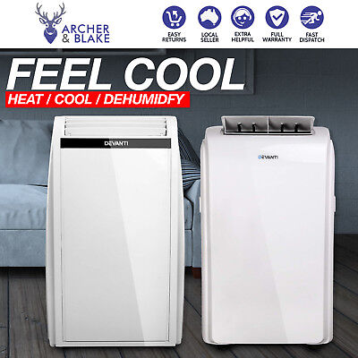 DEVANTI 4 IN 1 Portable Air Conditioner Cooler Fan Dehumidifier Heater Cooling
