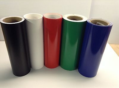 "12""  Self Adhesive Vinyl (hobby / sign maker/ sheet  ), 5 rolls/ 5 ft ea,"