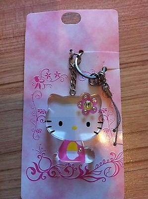 Hello Kitty crystal key chain cell phone strap