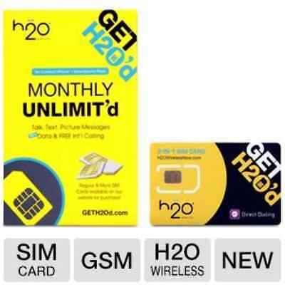 H2O Wireless Micro Sim Card with First Month Included : $30 Plan H20 Micro &