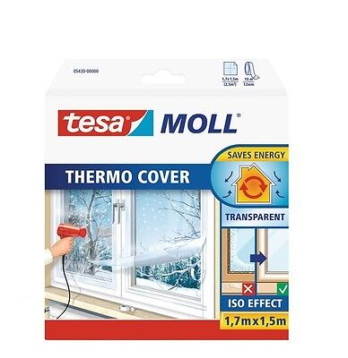 Tesa 05430-00000-01 tesamoll Fensterisolierfolie THERMO COVER 1,7x1,5m