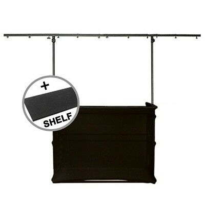 Gorilla GDS 4ft Complete DJ Disco Stand inc Scrim Booth Kit and Carpet Shelf