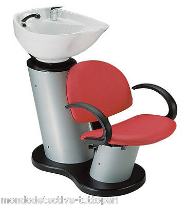 Shampoo Basin Professional Hairdresser Barber Sink Tilted With Chair