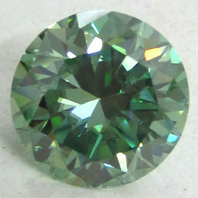 LOOSE REAL MOISSANITE BLUEISH  GREEN 1.07 CT 6.90 mm TESTED  US SELLER