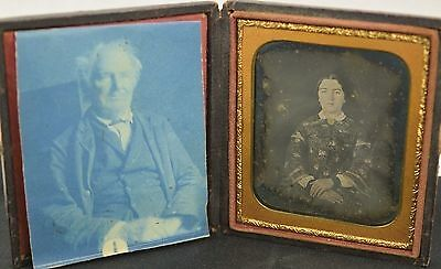 Gorgeous Early Daguerreotype of Married Young Woman in Case 1/6 Plate