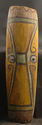 Old Fighting Shield From Highlands Of Papua New Guinea With Bold Colors