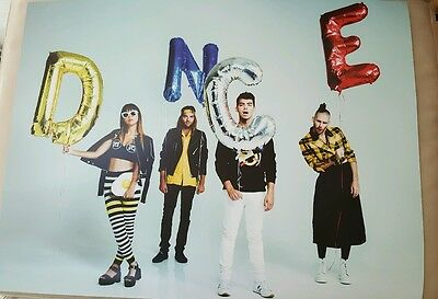 DNCE Joe Jonas Cole Whittle Jack Lawless JinJoo Lee Concert Poster
