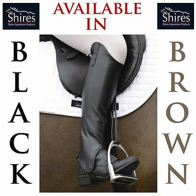Shires Adults Horse Riding Equi-Leather Half Chaps Showing Gaiters Size Xs-Xxl