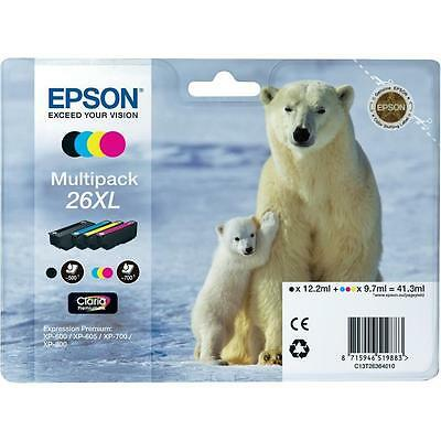 Genuine Epson 26XL Multipack T2636 Ink Cartridges for Expression XP-710 XP-700