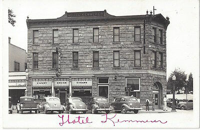 1940 S Kemmerer Wyoming Real Photo Main Street Hotel Old Cars Cigar