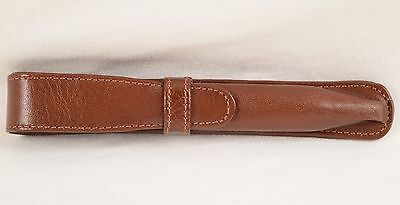 Unbranded Brown Leather Single Pen Pouch Case #3