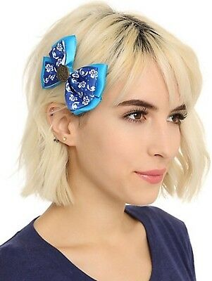 Disney Lilo & Stitch Button Cosplay Hair Bow Tie Hair Clip New With Tags!