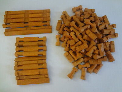 Lot of LINCOLN LOGS 100+ Wood Pieces  Loose