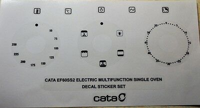 CATA EF60SS2 oven front panel decal, stickers, may fit others.