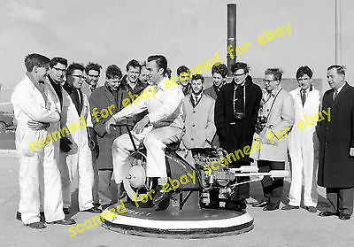 Photo - English Electric Co student built hovercraft, Stevenage, February 1962