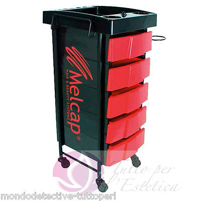 Cart Holder Accessories 5 Drawers Timer For Dyes Carries Hair Dryer Hairdresser
