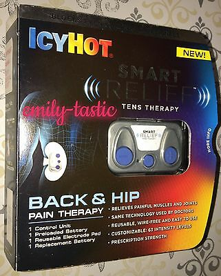 NEW IcyHot Smart Relief TENS Back & Hip Pain Therapy Unit Sealed! 4/2018