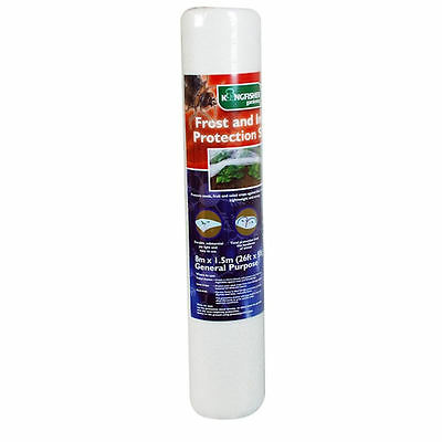 8m x 1.5m Garden Fleece Frost and Insect Protection Sheet