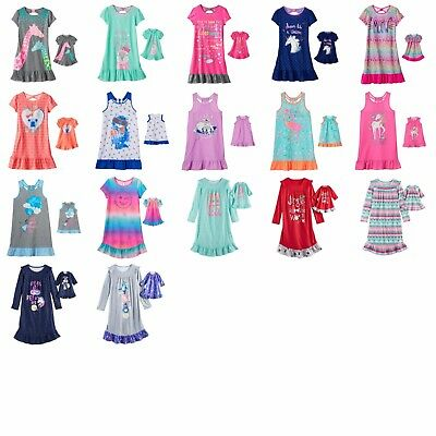 "Girl 4-14 and 18"" Doll Matching Nightgown Clothes fit American Girl Dollie & Me"