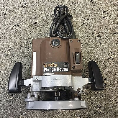 """Professional Woodworker Plunge Router 1200w 1 3/4hp 1/4"""", 3/8"""" or 1/2"""" Shanks"""