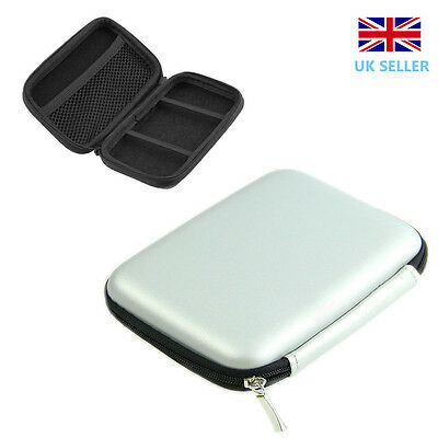 """2.5""""Inch USB External Hard Disk Drive Carry Case Pouch for HDD PC&Laptop Silver"""