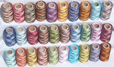 30 Double Shaded Embroidery Thread Spools  30 Colours, Good Quality