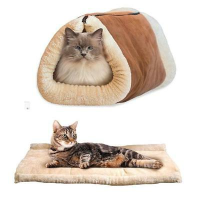 Kitty Shack 2 in 1 Tube Cat Mat and Bed Mat Bed Accessories Winter Snuggy Warm