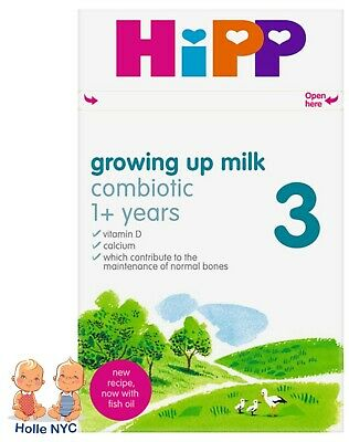 HiPP UK Stage 3 Organic Combiotic Growing Up Milk 4 Boxes 600g Free Shipping