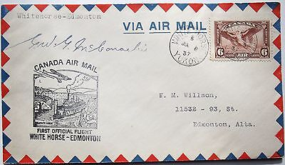 Grant McConachie Aviation Pioneer Canadian Airline Founder Signed Cover