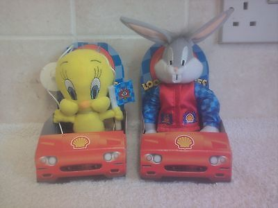 Looney Tunes Bugs Bunny & Tweety Pie Shell Oil Promo Soft Toys 1999