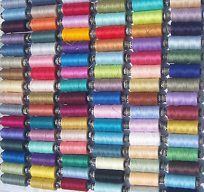 150 POLYESTER ALL PURPOSE SPOOLS THREAD-150 different Colours