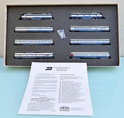 Con-Cor Burlington Northern Executive Train Set #001-008514 N Scale MIB
