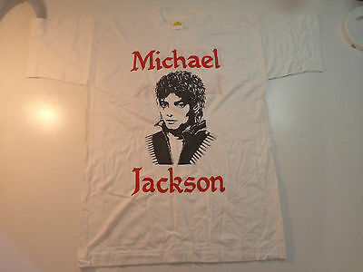 Vintage  MICHAEL JACKSON  Unused  80s T SHIRT  pop rock dangerous bad lp cd flag