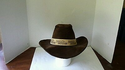 Harley davidson cowboy rodeo hat color brown size large 71/4 73/4 motorcycle