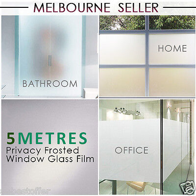 90cm*5m Sand Blast Clear  Frosted Frosting Window Glass / Tint Film Removable