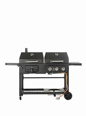 Dual Fuel BBQ Grill Charcoal And Gas BBQ