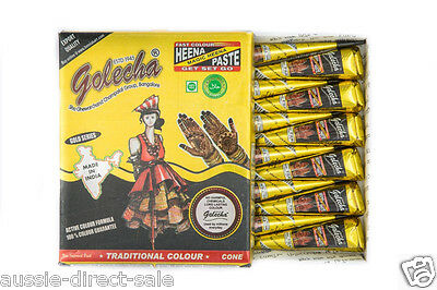 100% Original Golecha Henna paste Cone tattoo BEST LASTING, No Harmful Chemicals