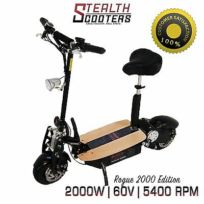 Rogue 60v 2000W Brushless Electric Scooter Higher Torque than 1000w